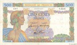 500 Francs LA PAIX FRANCE  1942 F.32.38 TTB