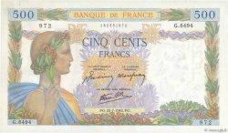 500 Francs LA PAIX FRANCE  1942 F.32.38 SPL+
