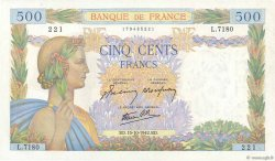 500 Francs LA PAIX FRANCE  1942 F.32.42 SUP+