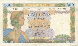 500 Francs LA PAIX FRANCE  1942 F.32.42 TB+