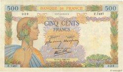 500 Francs LA PAIX FRANCE  1942 F.32.43 TB+