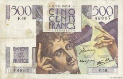 500 Francs CHATEAUBRIAND FRANCE  1945 F.34.03 TB+