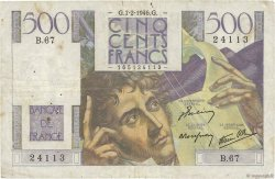 500 Francs CHATEAUBRIAND FRANCE  1946 F.34.04 B+