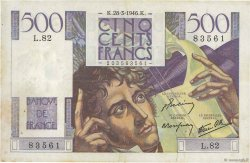 500 Francs CHATEAUBRIAND FRANCE  1946 F.34.05 TTB