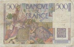 500 Francs CHATEAUBRIAND FRANCE  1946 F.34.06 B