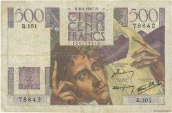500 Francs CHATEAUBRIAND FRANCE  1947 F.34.07 B+