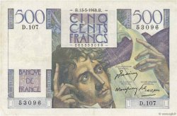 500 Francs CHATEAUBRIAND FRANCE  1948 F.34.08 TB+