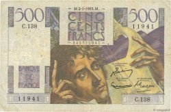 500 Francs CHATEAUBRIAND FRANCE  1953 F.34.11 B
