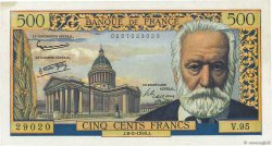 500 Francs VICTOR HUGO FRANCE  1958 F.35.08 SUP+