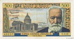 500 Francs VICTOR HUGO FRANCE  1958 F.35.11 TTB