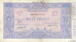 1000 Francs BLEU ET ROSE FRANCE  1912 F.36.26 pr.TTB