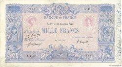 1000 Francs BLEU ET ROSE FRANCE  1920 F.36.36 TB
