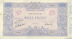 1000 Francs BLEU ET ROSE FRANCE  1925 F.36.41 pr.TTB