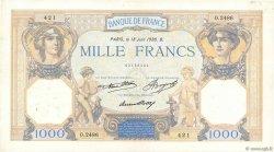 1000 Francs CÉRÈS ET MERCURE FRANCE  1936 F.37.09 TTB+