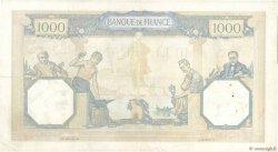 1000 Francs CÉRÈS ET MERCURE type modifié FRANCE  1937 F.38.03 TTB