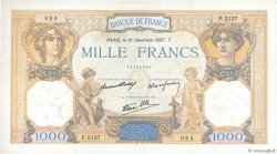 1000 Francs CÉRÈS ET MERCURE type modifié FRANCE  1937 F.38.07 TTB+