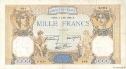 1000 Francs CÉRÈS ET MERCURE type modifié FRANCE  1938 F.38.13 TB