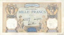 1000 Francs CÉRÈS ET MERCURE type modifié FRANCE  1938 F.38.19 SUP
