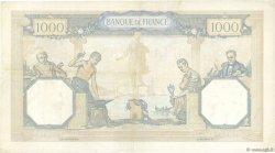 1000 Francs CÉRÈS ET MERCURE type modifié FRANCE  1938 F.38.20 TTB+