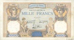 1000 Francs CÉRÈS ET MERCURE type modifié FRANCE  1938 F.38.24 TB