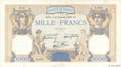 1000 Francs CÉRÈS ET MERCURE type modifié FRANCE  1938 F.38.27 pr.TTB