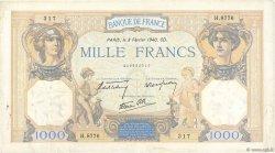 1000 Francs CÉRÈS ET MERCURE type modifié FRANCE  1940 F.38.42 TB