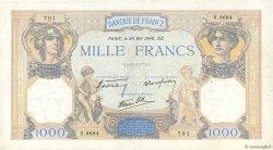 1000 Francs CÉRÈS ET MERCURE type modifié FRANCE  1940 F.38.47 TTB