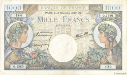 1000 Francs COMMERCE ET INDUSTRIE FRANCE  1940 F.39.03 TB+