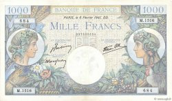 1000 Francs COMMERCE ET INDUSTRIE  FRANCIA  1941 F.39.04