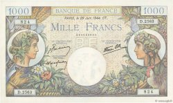 1000 Francs COMMERCE ET INDUSTRIE FRANCE  1944 F.39.09