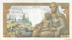 1000 Francs DÉESSE DÉMÉTER FRANCE  1942 F.40.05 pr.TTB