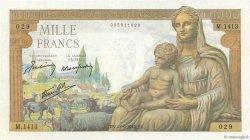 1000 Francs DÉESSE DÉMÉTER FRANCE  1942 F.40.07 pr.SUP