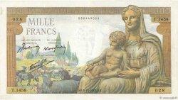 1000 Francs DÉESSE DÉMÉTER FRANCE  1942 F.40.08 pr.TTB