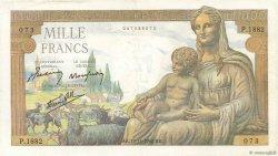 1000 Francs DÉESSE DÉMÉTER FRANCE  1942 F.40.11 pr.TTB