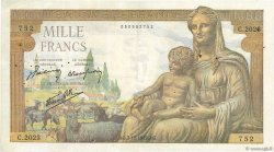 1000 Francs DÉESSE DÉMÉTER FRANCE  1942 F.40.12 TB