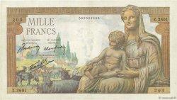 1000 Francs DÉESSE DÉMÉTER FRANCE  1943 F.40.17 TTB+