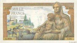 1000 Francs DÉESSE DÉMÉTER FRANCE  1943 F.40.17 pr.NEUF