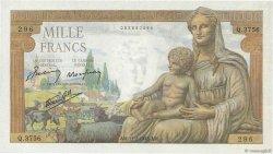1000 Francs DÉESSE DÉMÉTER FRANCE  1943 F.40.18 pr.NEUF