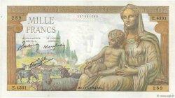 1000 Francs DÉESSE DÉMÉTER FRANCE  1943 F.40.19 SUP