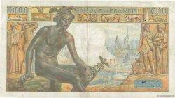 1000 Francs DÉESSE DÉMÉTER FRANCE  1943 F.40.20 TB