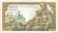 1000 Francs DÉESSE DÉMÉTER FRANCE  1943 F.40.21 TTB