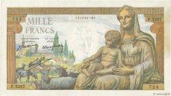 1000 Francs DÉESSE DÉMÉTER FRANCE  1943 F.40.23 TTB
