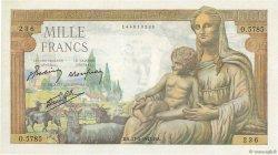 1000 Francs DÉESSE DÉMÉTER FRANCE  1943 F.40.25 SUP+
