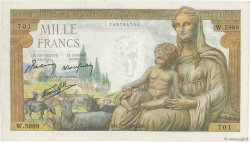 1000 Francs DÉESSE DÉMÉTER FRANCE  1943 F.40.25 pr.NEUF