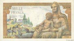 1000 Francs DÉESSE DÉMÉTER FRANCE  1943 F.40.26 pr.SUP