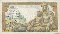 1000 Francs DÉESSE DÉMÉTER FRANCE  1943 F.40.29 pr.TTB