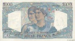 1000 Francs MINERVE ET HERCULE FRANCE  1945 F.41.01 TTB+