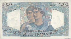 1000 Francs MINERVE ET HERCULE FRANCE  1945 F.41.02 SUP