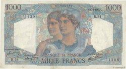 1000 Francs MINERVE ET HERCULE FRANCE  1945 F.41.03 TB+