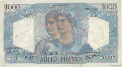 1000 Francs MINERVE ET HERCULE FRANCE  1945 F.41.04 TB
